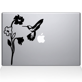 Humming Bird Macbook Decal Sticker Black