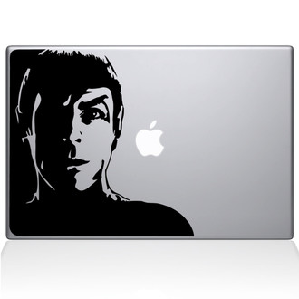Star Trek Spock Macbook Decal Sticker Black