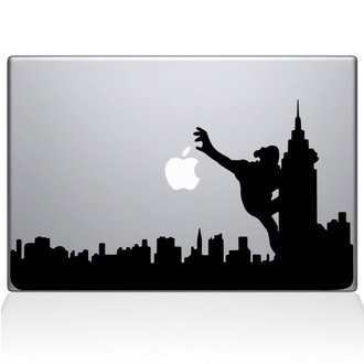 King Kong City Skyline Macbook Decal Sticker Black