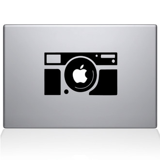 Rectangular Camera Macbook Decal Sticker Black