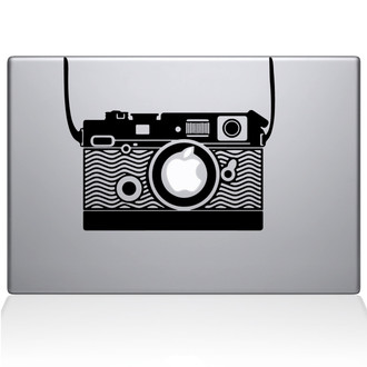 Vintage Camera Macbook Decal Sticker Black