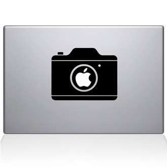 Simple Camera Macbook Decal Sticker Black