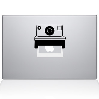 Polaroid Camera Macbook Decal Sticker Silver