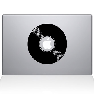 Vinyl Record Macbook Decal Sticker Black