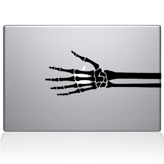 Skeleton Hand Xray Macbook Decal Sticker Black