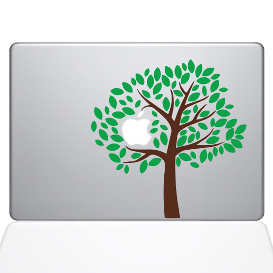 Simple Tree Macbook Decal Sticker Silver