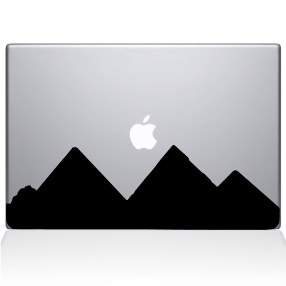 Pyramids City Skyline Macbook Decal Sticker Black