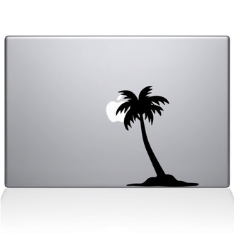 Palm Tree Macbook Decal Sticker Black