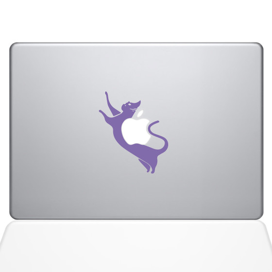 Cat Macbook Decal Sticker Purple