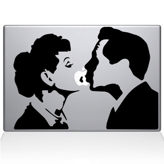 I love Lucy Macbook Decal Sticker Black