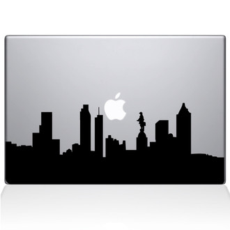Philadelphia City Skyline Macbook Decal Sticker Black