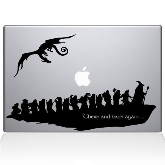 There and Back Again Macbook Decal Sticker Black
