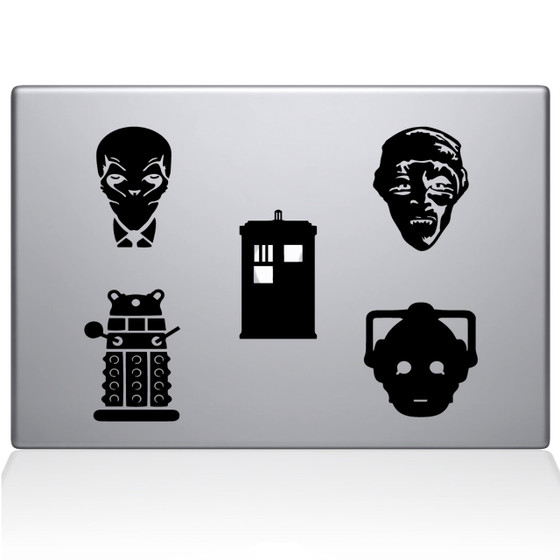 Dr Who Booth Macbook Decal Sticker Black