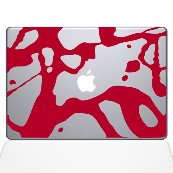 Paint Splatter Blood Macbook Decal Sticker Red