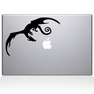 Smaug Dragon Macbook Decal Sticker Black