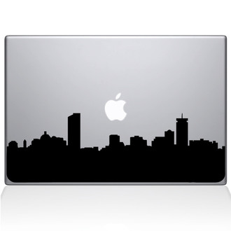 Boston City Skyline Macbook Decal Sticker Black