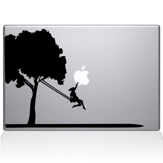 Tree Macbook Decal Sticker Black