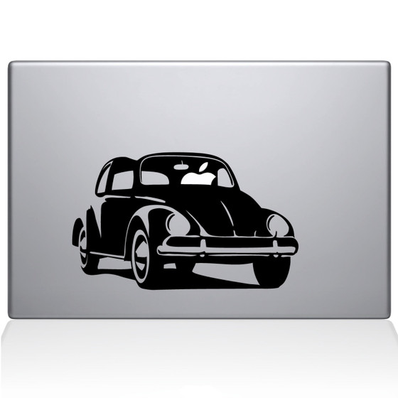 Volkswagon VW Bug Macbook Decal Sticker Black