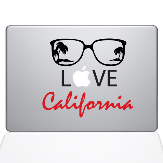 Love California Macbook Decal Sticker Silver
