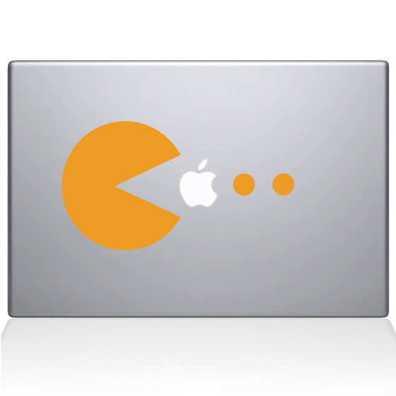Pacman Dots Macbook Decal Sticker Yellow