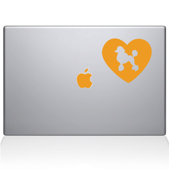 Heart Poodle Macbook Decal Sticker Yellow