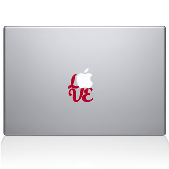 Hand Lettered Love Macbook Decal Sticker Red