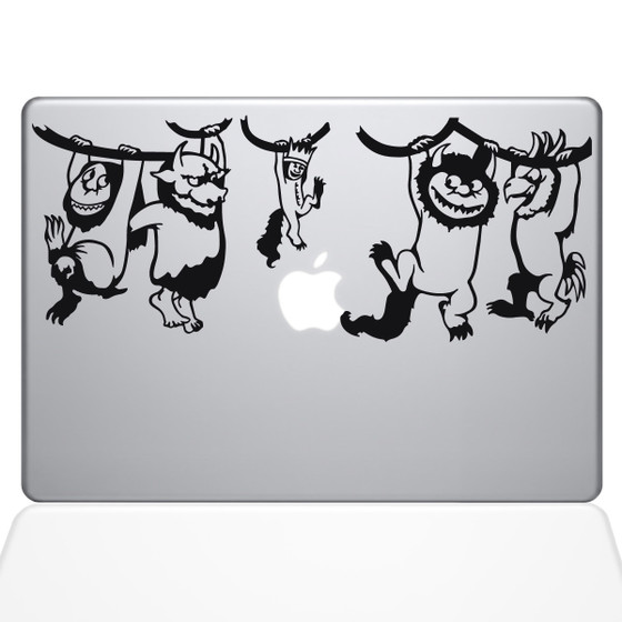 Where the Wild Things Are Macbook Decal Sticker Black