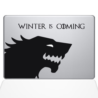 Winter is Coming Macbook Decal Sticker Black