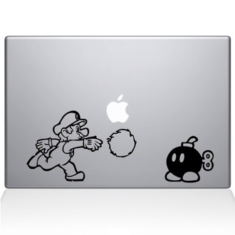 Mario Brothers Fireball Bomb Decal Sticker Black