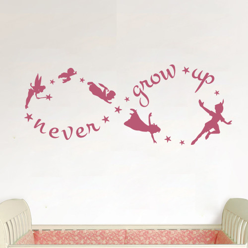 ... Up Wall Decal. Image 1  sc 1 st  The Decal Guru & Peter Pan Never Grow Up Wall Decal - The Decal Guru