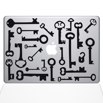 Skeleton Keys Macbook Decal Sticker Black