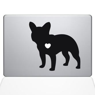 I Love My French Bulldog Macbook Decal Sticker Black