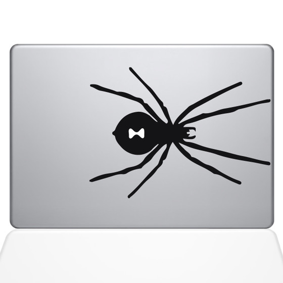 Black Widow Spider Macbook Decal Sticker Black