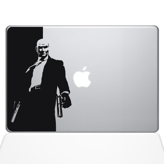 Hitman Macbook Decal Sticker Black