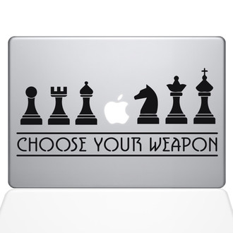 Chess Weapons Macbook Decal Sticker Black