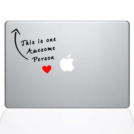 Awesome Person Macbook Decal Sticker Silver