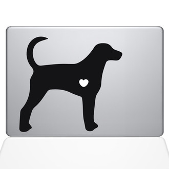 I Love My Foxhound Macbook Decal Sticker Black