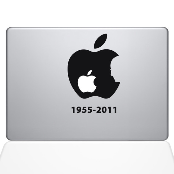 Steve Jobs Macbook Decal Sticker Black