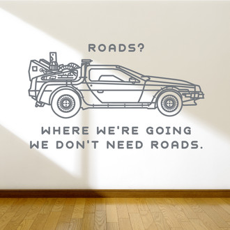 Back to the Future Delorian Wall Decal