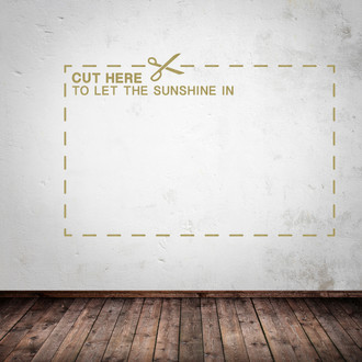 Cut Here Wall Decal
