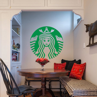 Little Mermaid Starbucks Logo Wall Decal