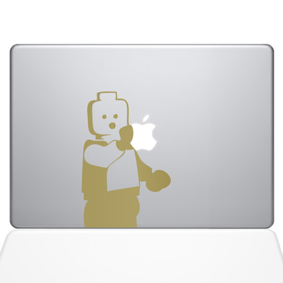 Lego man macbook sticker gold