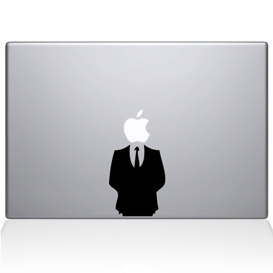 Man in suit macbook decal sticker black