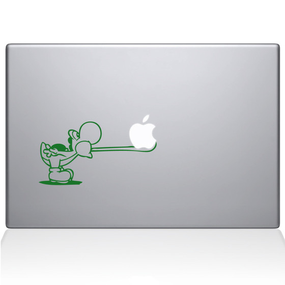 Yoshi Tongue Macbook Decal Sticker Green