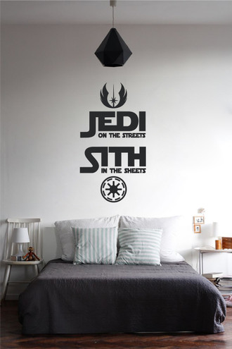 Jedi & Sith Bedroom Quote Wall Decal