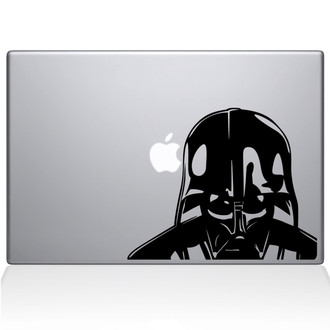 Darth Vader Head Macbook Decal Sticker Black