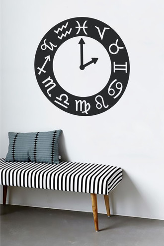 Astrology Clock Wall Decal