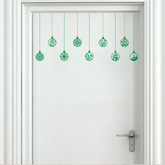 Hanging Seasonal Ornament Wall Vinyl Decal Sticker