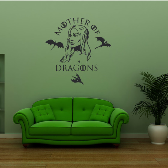 Mother Of Dragons Game Of Thrones Vinyl Wall Decal Sticker