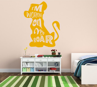 Lion King Simba Working On My Roar Kids Room Vinyl Wall Decal Sticker
